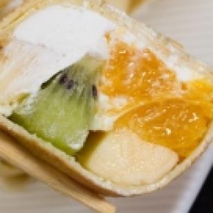 Sushi de kiwi y melón