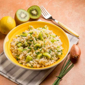 Sweeki Green and Prosecco risotto