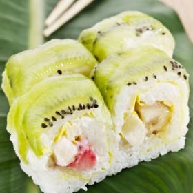 猕猴桃香瓜寿司