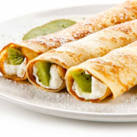 Mascarpone cheese and Sweeki crepes